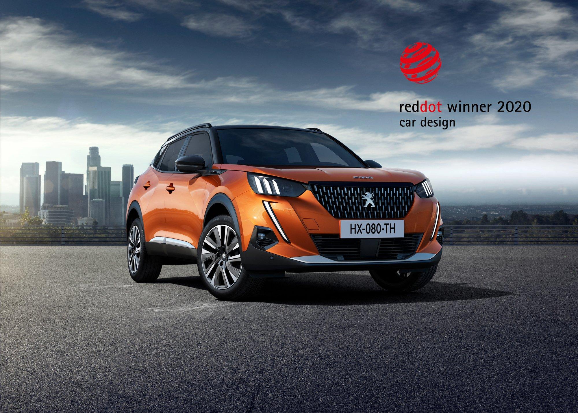 Red Dot Award 2020: Vozy Peugeot 208 a Peugeot 2008 získaly ocenění za design - anotační obrázek