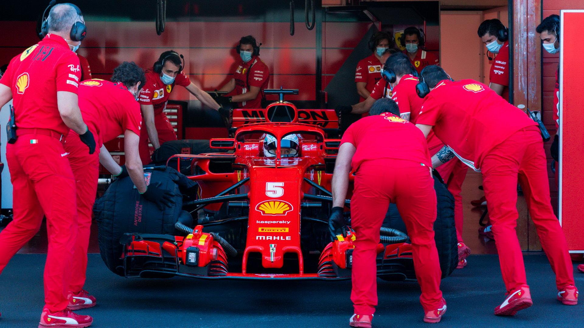 Sebastian Vettel během testování v Mugellu