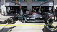 Vůz Mercedes F1 W11 EQ Performance během 1. tréninku na GP Rakouska