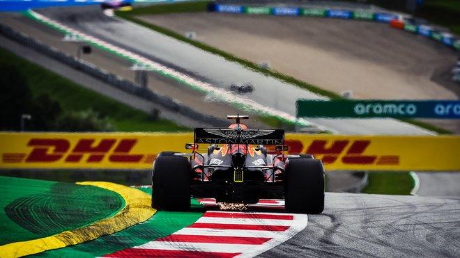 Max Verstappen během 1. tréninku na GP Rakouska