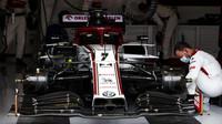 Vůz Kimiho Räikkönena před závodem velké ceny Štýrska