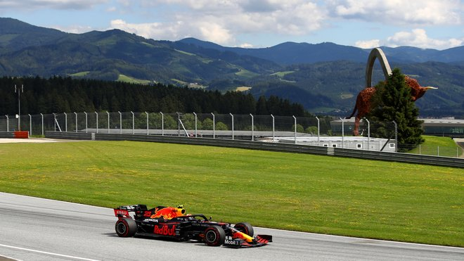 Alexander Albon v závodě velké ceny Štýrska