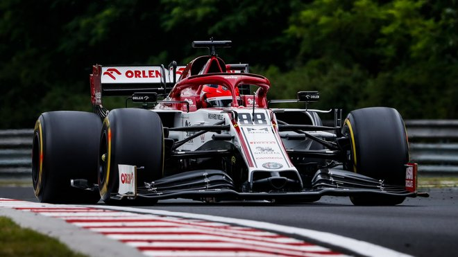 Robert Kubica při pátečním tréninku na Hungaroringu