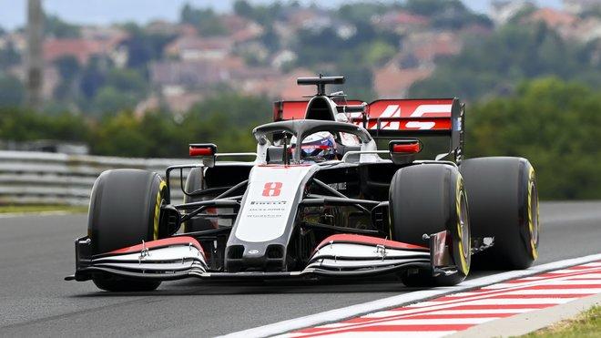 Romain Grosjean s vozem VF-20 v Maďarsku