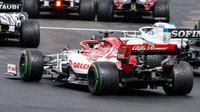 Kimi Räikkönen v závodě v Maďarsku