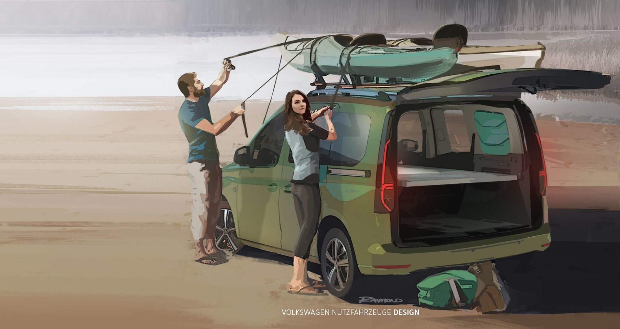 Volkswagen zveřejnil první fotografie nového malého kempovacího vozu - anotační obrázek