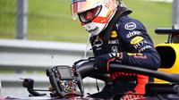 Max Verstappen po závodě v Silverstone