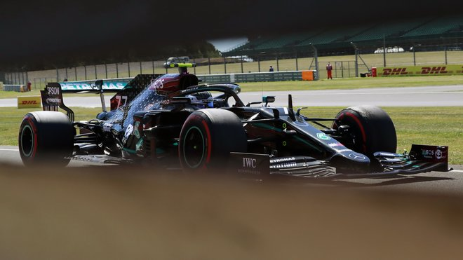 Valtteri Bottas v tréninku v Silverstone