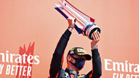 Max Verstappen se svou trefí za první místo po závodě v Silverstone