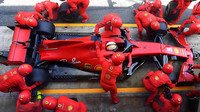 Sebastian Vettel v závodě ve Španělsku
