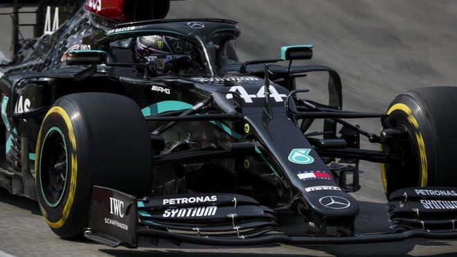 Lewis Hamilton v závodě ve Španělsku