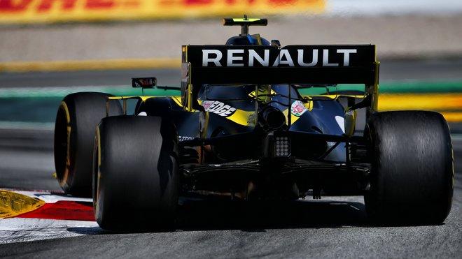 Esteban Ocon s Renaultem RS20 ve Velké ceně Španělska
