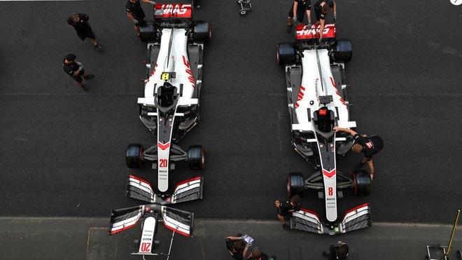 Vozy týmu Haas se připravují na víkend GP Toskánska