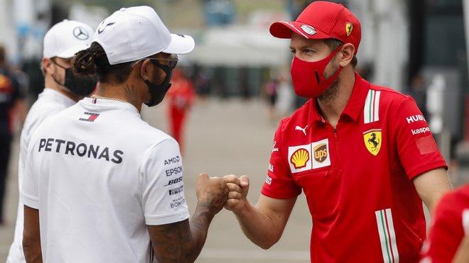 Lewis Hamilton a Sebastian Vettel v Toskánsku