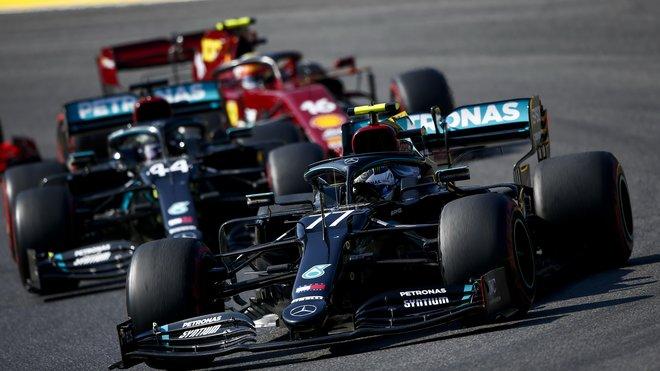 Valtteri Bottas v závodě v Toskánsku