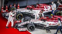 Vozy Alfa Romeo po závodě v Soči