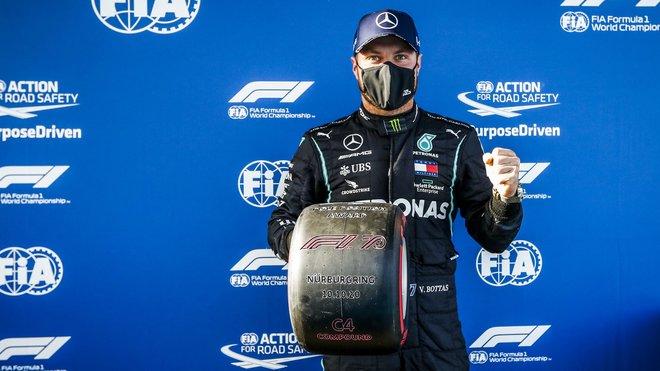 Valtteri Bottas po vyhrané kvalifikaci na Nürburgringu