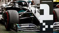 Lewis Hamilton si dojel pro první místo v závodě na Nürburgringu