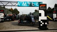 Lewis Hamilton po závodě v Imole