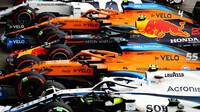 Vozy F1 po závodě v Imole