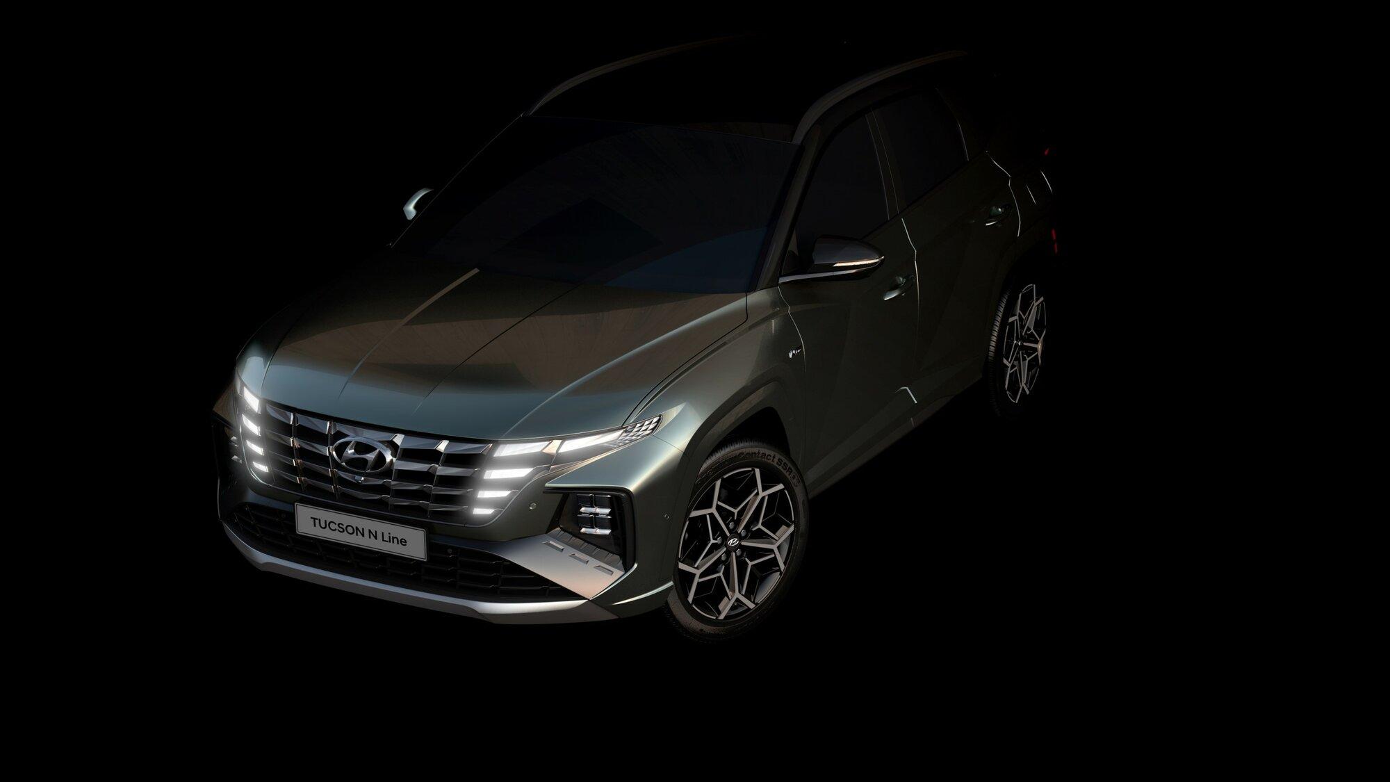 Hyundai se pochlubil fotografiemi zcela nového modelu Tucson N Line - anotační obrázek