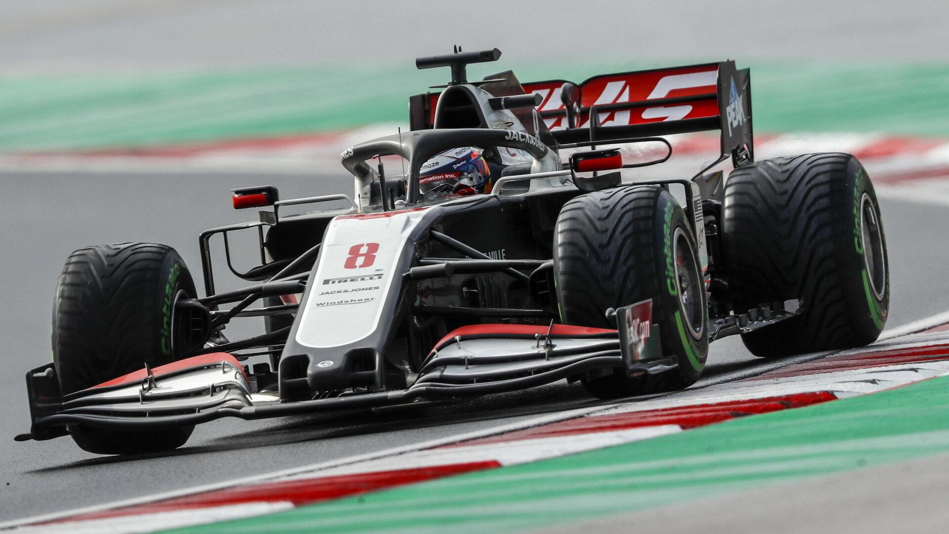 Romain Grosjean v závodě v Turecku