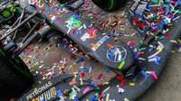 Vůz Lewise Hamiltona po závodě v Turecku