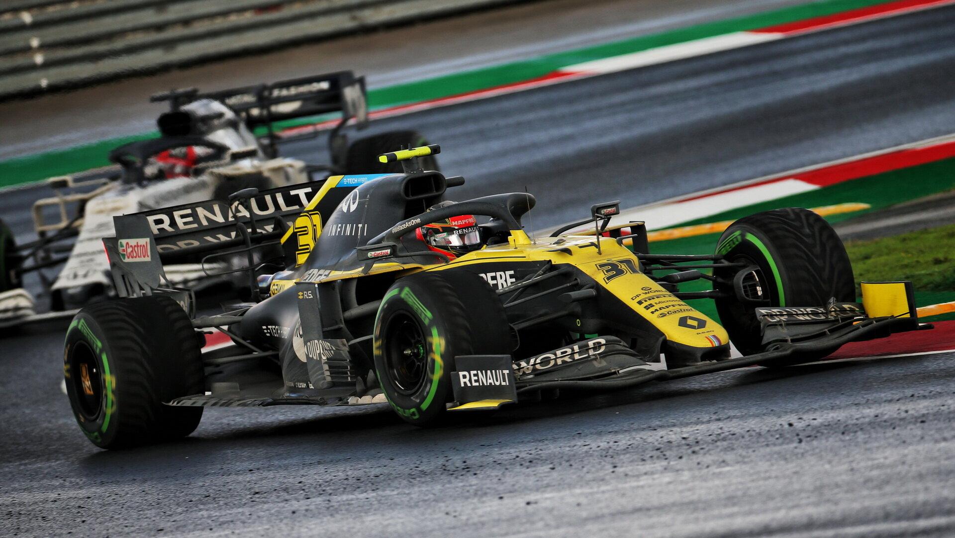 Esteban Ocon závodě v Turecku