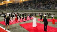 Slavnostní ceremoniál před závodem v Bahrajnu
