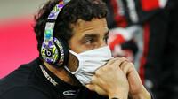 Daniel Ricciardo při restartu závodu v Bahrajnu