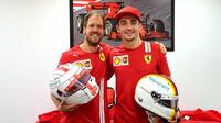 Sebastian Vettel a Charles Leclerc v Abú Zabí