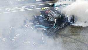 Valtteri Bottas po závodě v Abú Zabí