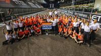 Tým McLaren po úspěšné sezóně v Abú Zabí