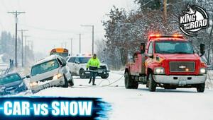 Zimní ruleta. Led, sníh, déšť a auta na silnici