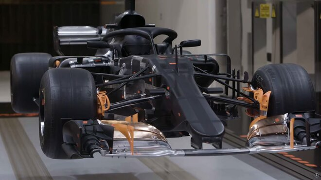 Model Mercedesu pro testování v aerodynamickém tunelu