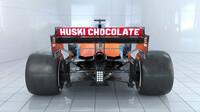 Záď představeného McLarenu - závodní specifikace bude pochopitelně vypadat zcela jinak