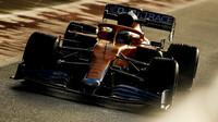 Daniel Ricciardo při prvním testu McLarenu v roce 2021 v Silverstone
