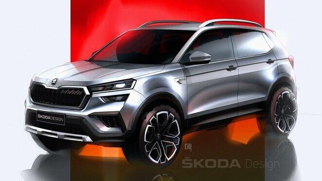 Škoda vystavila skici modelu Kushaq pro indický trh