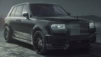 Černý Rolls-Royce Cullinan od společnosti Spofecu, V12 6,75 litru a přes 700 koní - anotační foto