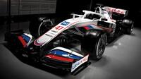 Vůz Haasu v nových barvách pro sezónu 2021