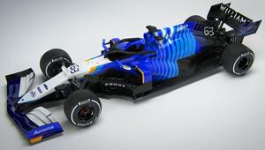 Williams ukázal FW43B s novým zbarvením: modrobílá s prvky žluté - anotační obrázek