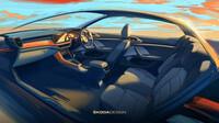 Škoda ukázala skici interiéru nového SUV Kushaq - anotační foto