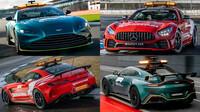 Zpomalovací a lékařské vozy pro sezónu 2021 Formule 1
