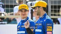 Daniel Ricciardo a Lando Norris - první předsezonní testy v Bahrajnu