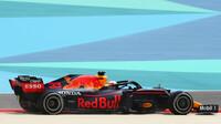 Max Verstappen s Red Bullem RB16B v Bahrajnu
