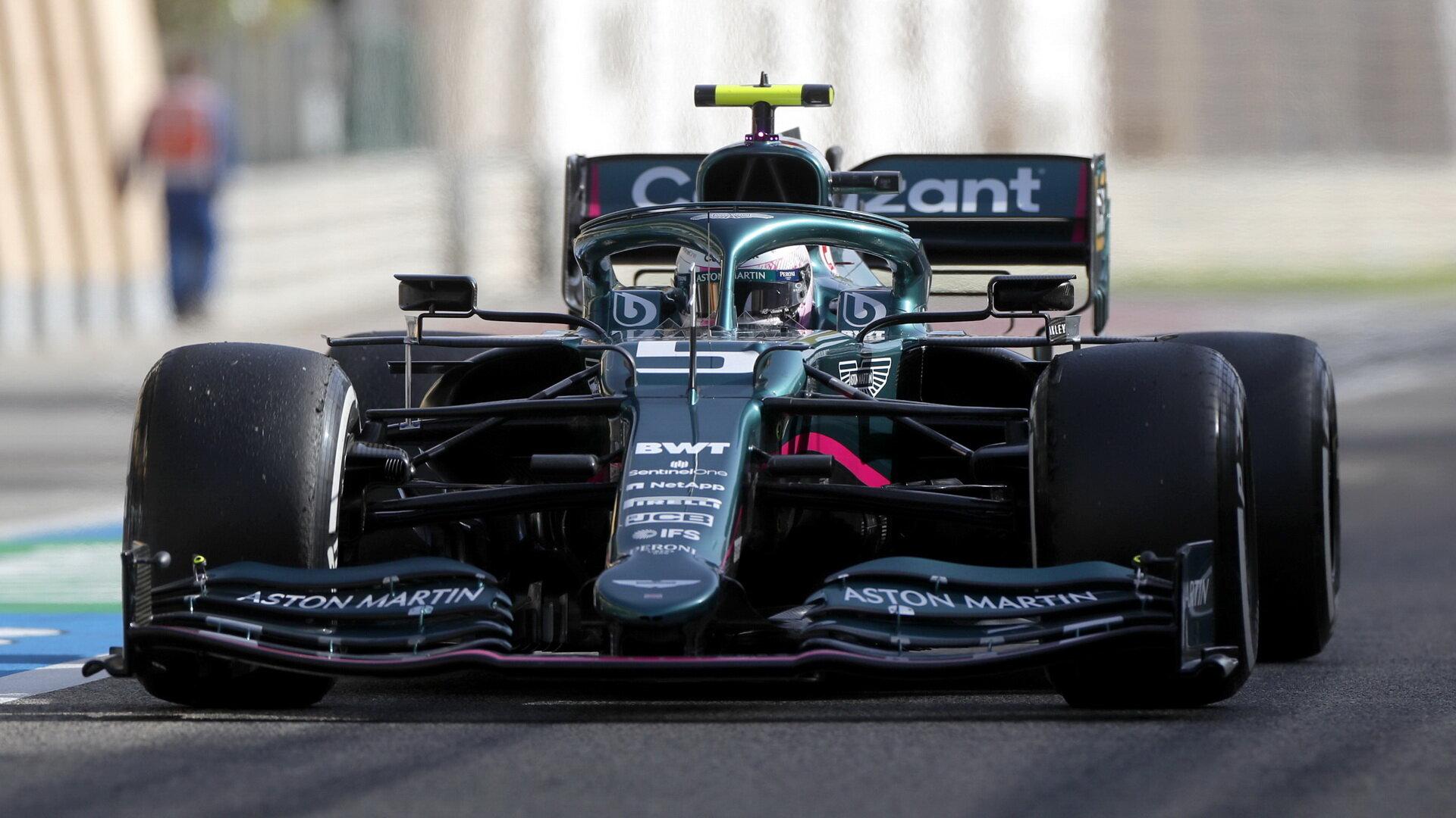 Sebastian Vettel - sobotní trénink v Bahrajnu