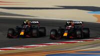Sergio Pérez a Max Verstappen - sobotní trénink v Bahrajnu