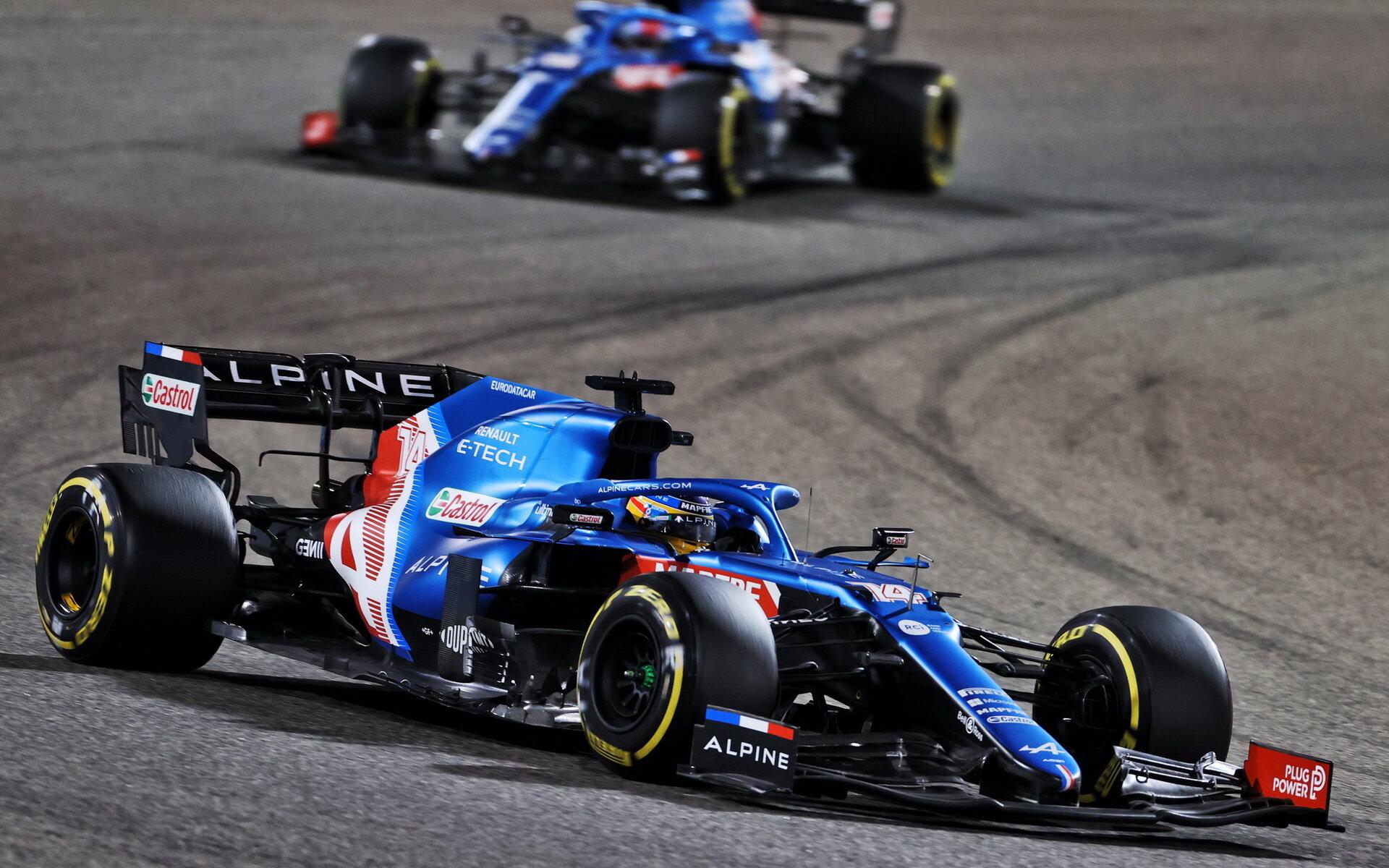 Fernando Alonso - závod v Bahrajnu