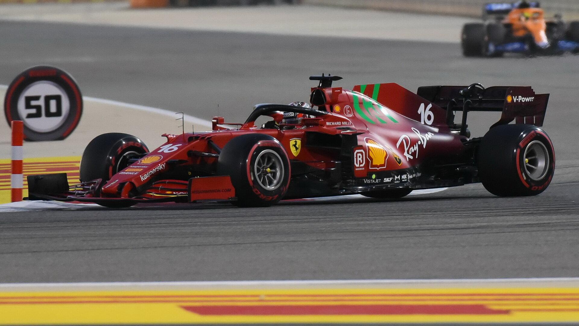 Charles Leclerc - závod v Bahrajnu