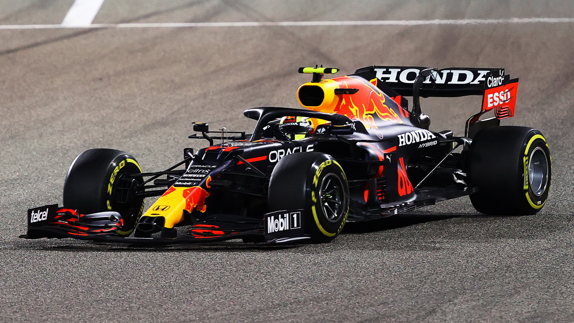 Sergio Pérez - závod v Bahrajnu